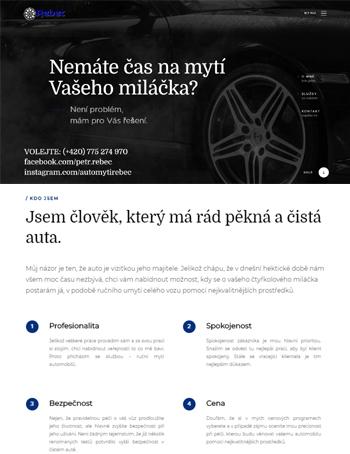 2018<br/>Petr Rebec - mytí aut